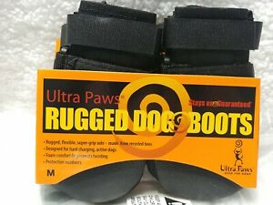"Ultra Paws Rugged Dog Boots, Black - Size Medium (paw width 2.75"")"