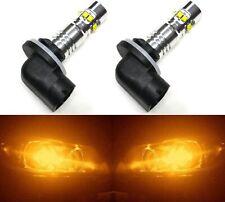 LED 50W 889 H27 Orange Amber Two Bulbs Light Front Turn Signal Backup Lamp