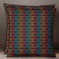 Decorative 1 Pair Black Cotton Poplin Cushion Cover Tribal Print Pillow Case