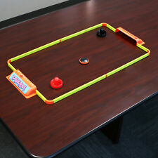 """Sunnydaze Portable Hover Tabletop Air Hockey Game Set with USB Charger - 40"""""""