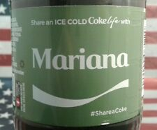 Share A Coke Life With Mariana 2017 Limited Edition Green Label Coca Cola Bottle