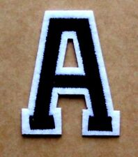 Letter A Patch Alphabet  Iron Sew On Applique Badge Motif
