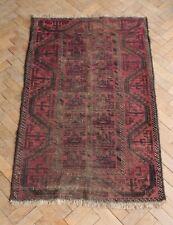 Vintage Flat Woven Balouch Kilim Rug 150 x 91cm Mid Century