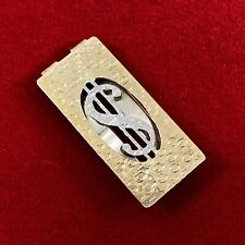 Vintage • 18K Gold • Money Clip • Yellow and White Gold