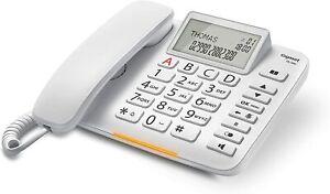 Gigaset DL380 Telefono Fisso, Display Visualizzazione Chiamata, Vivavoce Bianco