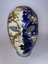 New ListingMade in Italy Auth. Venetian Mask Volto Masquerade Costume Wall Decor Full Face