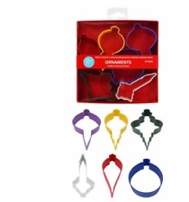 R & M Assorted Christmas 6 Piece Ornament Cookie Cutter Set