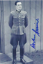 Rochus Misch Signed 4x6 Photo World War II Presidential Bodyguard Germany WWII