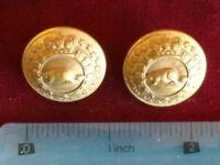 Pair of Canadian Militia Buttons 1901 - 1924 WW1 Era 25mm Firmin & Sons London