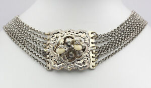 ♦ Kropfkette in 835er Silber Grandl Grandel Trachtencollier Collier Kette Tracht