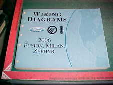 2006 FORD FUSION LINCOLN ZEPHYR MERCURY MILAN WIRING DIAGRAMS MANUAL xlnt