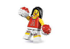 Lego Minifigures 8833 Series 8 Red Cheerleader New in Factory Sealed Packet