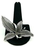 Vintage Tortolani SilverTone Leaves Brooch/Pin