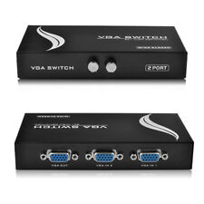 2 porta VGA/SVGA MONITOR SWITCH COMMUTATORE BOX di distribuzione 2 in 1 per LCD TV PC