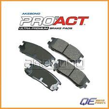 Rear Acura SLX Honda Passport Isuzu Trooper Brake Pads Akebono ProACT D8580ACT