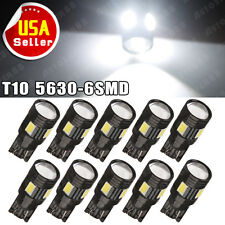 10x Super White T10 LED High Power Projector Backup Lights Reverse Marker Bulbs