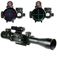 New Holographic Dot Sight &Tactical Rifle Scope 3-9X40 illuminated w/ Red Laser