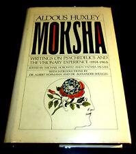 Signed x 2 ALDOUS HUXLEY MOKSHA PSYCHEDELIC EXPERIENCE 1931-1963 LSD MESCALINE