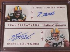 2015 National Treasures Dual Signatures Jordy Nelson Ty Montgomery Auto 18/25