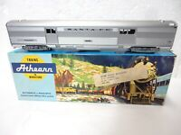 Vintage Athearn Santa-Fe Streamlined Silver Baggage Car HO Scale-with orig box!-