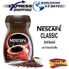100% Pure Natural NESCAFE Classic Instant Coffee Dark Roast Beans Cup Jar 100 gm