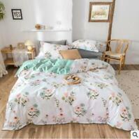 3D Pink Blue Flower Leaves KEP2684 Bed Pillowcases Quilt Duvet Cover Kay