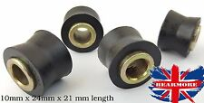 BIKE SHOCK ABSORBER V BUSH SUSPENSION METAL INSERT- ID10mmx24x21mm x 4PCS