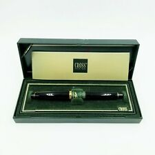 Cross Fountain Pen Solo Classic 22kt Gold Electroplated Accents 806 1M Blk NIB