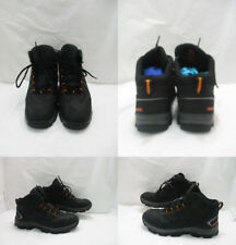 Men's Black Red Wing Lace Up Steel Toe Work Shoes Sz: 12WW  (#19126 Q)