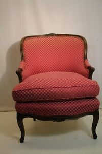 Great Large French Louis XV Style Walnut Living Room Chair, 19th C.