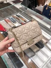 7d033d4594b5 NWT MICHAEL KORS Sloan Small Chain Shoulder Bag Floral Quilted Leather  Truffle