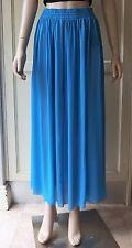 American Apparel Long Chiffon Skirt Blue Gathered Size-M/L
