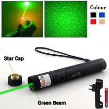 Military Green Laser Pointer 532nm 5mw Pen Beam 18650 battery Kit - Black