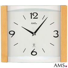 AMS 48 Horloge murale radio-pilotée de bureau cuisine hêtre massif 492