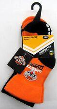 130014 WEST TIGERS WESTS NRL BABY INFANT SOCKS 2 PACK ANTI-SLIP GRIP SIZE 00-1