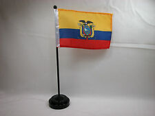 """Closeout 4""""x6"""" Hand Held  or Table Top Flags International Country Flag Ecuador"""