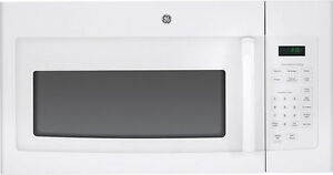 New GE JVM3160DFWW 1.6 Cu. Ft. White Over-the-Range Microwave