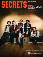 Secrets Sheet Music Piano Vocal OneRepublic NEW 000354132
