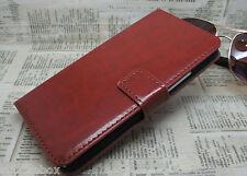 Premium Vintage Leather Flip Case Wallet Cover For New HTC Models