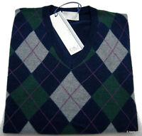 Maglia Byblos Blu Cashmere maglione Sweater Jumper Uomo Men Made in Italy E-best
