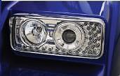 KENWORTH W900/T800 PROJECTOR HEADLIGHT W/ LED TURN SIGNAL LS K256-880-4 #40571