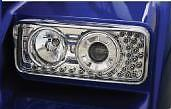 KENWORTH W900/T800 PROJECTOR HEADLIGHT W/ LED TURN SIGNAL LS K256-880-4 #40571