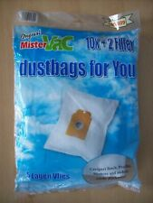 Bags Mistervac MV 609 Vacuum Bags x 10 + 2 Filters Bosch Profilo Siemens +Others