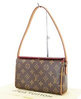 Authentic LOUIS VUITTON Recital Monogram Handbag Purse #35033