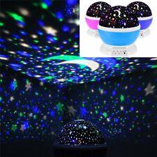Romantic LED Starry Sky Star Projector Lamp Galaxy Cosmos Night Lights Rotating