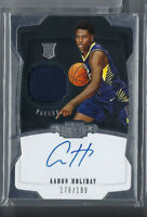 AARON HOLIDAY 2018-19 PANINI DOMINION AUTO AUTOGRAPH JERSEY RC #/199 PACERS