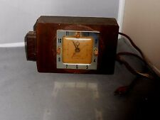 VINTAGE WORKING SESSIONS TIMER MOVEMENT HOMEMADE WOODEN CLOCK GOOD CONDITION