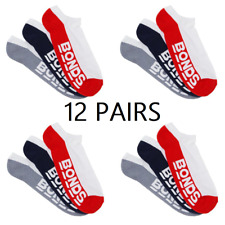 Bonds Mens Logo Low Cut Sport Socks 3 Pack Size 6-10
