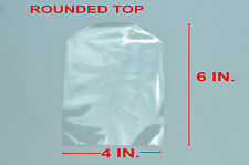 "200 4"" X 6"" CLEAR ROUNDED TOP SHRINK WRAP BAGS"