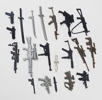 Random lot of 20 GI JOE Cobra Ninja figure's diffrerent Accessories weapons